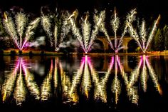 Fireworks by metrisk (Lance Garrard), via Flickr  A spectacular firework display over the lake at Saint-Yrieix-la-Perche in France