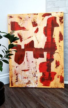 Original Abstract Painting on Canvas Acrylic 18 x by ModernArtVZ