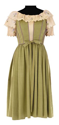 """Costume worn by Julie Andrews as """"Maria"""" from """"The Sound of Music"""" Costume design: Dorothy Jeakins"""