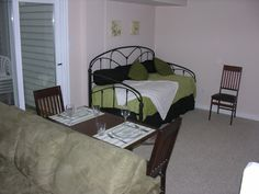Collingwood Vacation Rental - VRBO 480266 - 2 BR Ontario Chalet in Canada, Mid-Week Special. $90/Night-4 Nights, $100/Night-3 Nights, $120/Night-2 Nights. Mountain Vacations, Blue Mountain, Ideal Home, Ontario, Condo, Night, Bed, Furniture, Home Decor