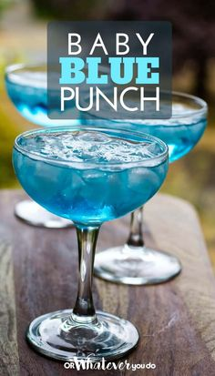 Baby Blue Punch Traeger Recipes, big family cooking, and travel!This Baby Blue Punch packs an adult-sized kick, so make sure to keep the kids away! It is BA Blue Drinks, Summer Drinks, Blue Cocktails, Cocktail Drinks, Mixed Drinks, Baby Shower Punch, Baby Boy Shower, Baby Shower Cocktails, Party Drinks