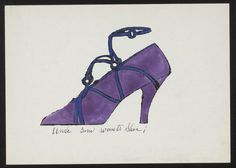 Andy Warhol. Untitled from À la recherche du shoe perdu. 1955