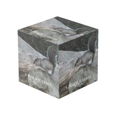 S For Squirrel Cube Photo Cubes, Images And Words, Squirrel, Cleaning Wipes, Bookends, Decorative Boxes, Display, Wood, Prints