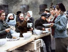 A displaced persons camp in Germany, March, 1945.