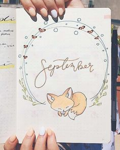 45 Foxy and Sly Fox themed bullet journal ideas Bullet Journal September, Bullet Journal School, Bullet Journal Month, Bullet Journal Banner, Bullet Journal Writing, Bullet Journal Hacks, Bullet Journal Ideas Pages, Bullet Journal Spread, Bullet Journal Layout