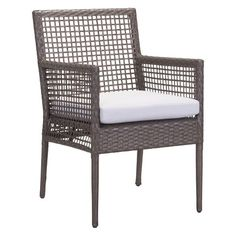 2pk Modern Cabana Style Dining Chair Cocoa/Light Gray - ZM Home : Target