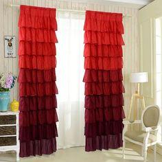 Ruffle Sheer Curtain Panels Drapes Valances Rod Pocket