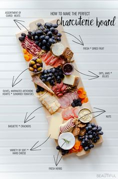 How to Create the Perfect Charcuterie Board + Free Plans - Birdy B. How to Create the Perfect Charcuterie Board + Free Plans – Source by birdypinteriumsite Charcuterie Recipes, Charcuterie Platter, Charcuterie And Cheese Board, Cheese Boards, Antipasto Platter, Crudite Platter Ideas, Grazing Platter Ideas, Cheese Board Display, Charcuterie Display
