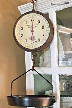 "Stop by and ""Weigh In"" on your favorite  Antique Scale basket today! http://www.homeroad.net/2013/07/weigh-in-on-antique-scale-tray.html"