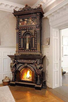 Gothic Victorian Fireplace Check us out on Fb- Unique Intuitions #uniqueintuitions #gothic #fireplace