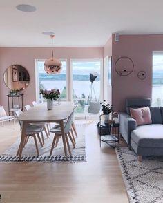 Sala de jantar: 100 projetos encantadores para você se inspirar - Home Living Room Interior, Home Living Room, Apartment Living, Living Room Decor, Dining Room Design, Dining Room Furniture, Interior Design, Design Design, Nail Design
