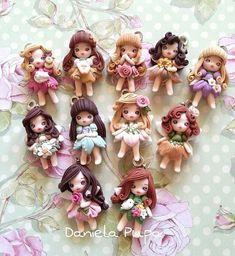 Миниатюрные куколки из полимерной глины <br>Мастер Daniela Pupa
