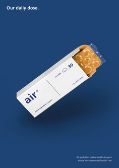 #02 - 2/5 Air is Medicine. by Alexandra Turban. I really like this ad because even though air isn't really a product, they decided to present it as such. This choice contributes to the interest of the presentation.