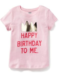 Long & Lean Birthday-Graphic Tee for Toddler Girls | Old Navy