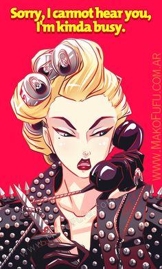 .: Lady Gaga - Telephone :. by =Mako-Fufu on deviantART