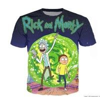 New Fashion Style Women/Men\'s  Rick and Morty 3D Print Casual  T-Shirt M15  Condition: 100% Brand