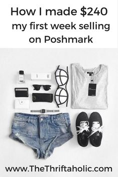 How I made $240 in my first week of Selling on Poshmark. Tips and trick to help you sell your items fast with links to Poshmark supplies.