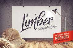 25% OFF! Limber script & Mockups by Gleb Guralnyk on @creativemarket