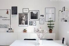 Picture wall + a how to guide (that nordic feeling) Slow Living, Home And Living, Best Interior, Interior Design, Studio Apartment Decorating, Living Spaces, Living Room, Scandinavian Living, Dining Room Walls