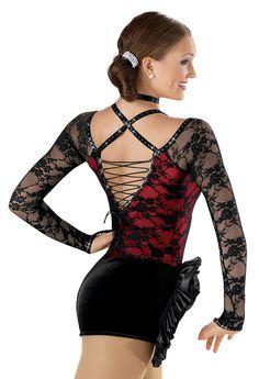 Velvet Biketard with Lace; Weissman Costumes