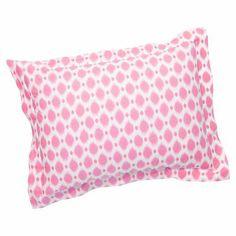 Ikat Dot Standard Sham, Bright Pink