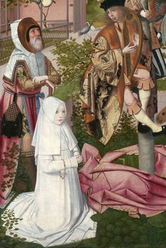 The Tree of Jesse, ca. 1500, attributed to Geertgen tot Sint Jans.  ------------  Kind of strange, pretty wonderful.