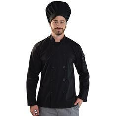 Gordon Chef Top BRAND: VANGARD has french cuffs and mandarin chef colar and double layered front design provides an extra layer of protection from hot oils. Front Design, Chef Jackets, Detail, Hot, Model, Cuffs, How To Wear, French, Collection