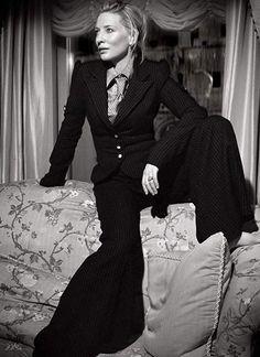 """A lesbians dream: starring Cate Blanchett in suits"" Cate Blanchett, Dandy, Amazing Women, Beautiful Women, Suit Up, Pinstripe Suit, Celebs, Celebrities, Suits For Women"