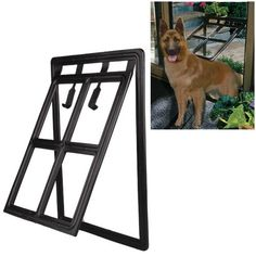 Large Medium Dog Pet Black Plastic Safety Door Panel Flap - http://www.thepuppy.org/large-medium-dog-pet-black-plastic-safety-door-panel-flap/
