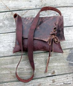 RESERVED for Caletha Rustic Brown Distressed Leather by stacyleigh