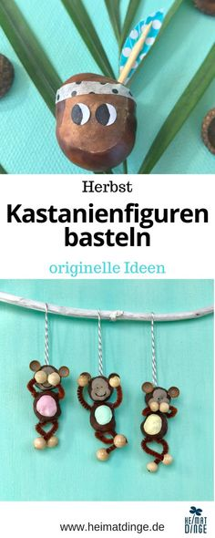 Kastanienfiguren basteln: 4 einfache Ideen zum Nachmachen Making chestnuts is part of the autumn crafting with children such as puddle jumping and forest walks. Easy Fall Crafts, Fall Crafts For Kids, Diy For Kids, Diy And Crafts, Paper Crafts, Children Crafts, Summer Crafts, Upcycled Crafts, Sewing Crafts