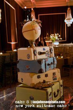 travel theme wedding cake   #wedding #cake