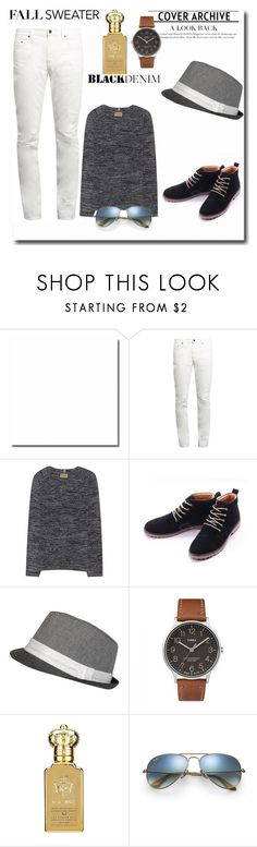 """""""Fall sweater #18"""" by the-face-of-style ❤ liked on Polyvore featuring Yves Saint Laurent, True Religion, Timex, Clive Christian and Ray-Ban"""