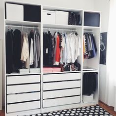 // and THIS is how you maximize closet space //