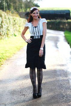 Not Dressed As Lamb: Christmas Day Black 'n White Dress