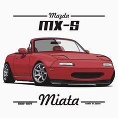 Mazda MX-5 Miata (red)