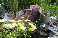 """Unruly Cards"" Party Decor for Mad Tea Party"