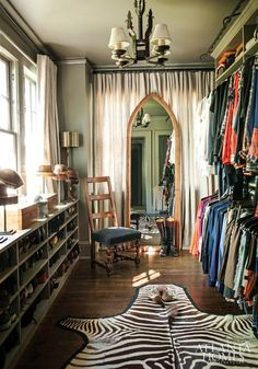Stylish closet with pop of animal