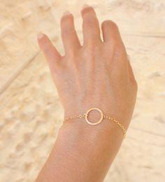 Gold Bracelet - Tiny bracelet - 14k gold filled delicate chain bracelet ,14k gold filled bracelet ,Minimum Jewelry, everyday. $24.00, via Etsy.