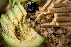 sushi bowl recipe-- it's like a deconstructed sushi roll, although this particular recipe is vegetarian.