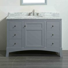 Bella Inch Bathroom Vanity CarraraCharcoal Gray In Https - 42 gray bathroom vanity
