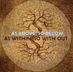 "Tree of Life-""As above, so below"" - ""wicca"" 12 Laws Of Karma, Wayne Dyer, Book Of Shadows, Occult, Magick, Decir No, Affirmations, Healing, Mindfulness"