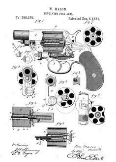 Revolving Fire Arm - Patented 1881
