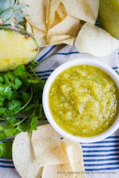 Pineapple Tomatillo Salsa | Homemade Salsa is the best!
