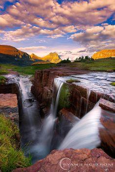 Triple Falls, Glacier National Park  Photo Credit: (Ryan Engstrom)