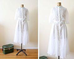 vintage gunne sax dress/ sheer white dress/ by MILKTEETHS on Etsy, $88.00 #gunnesax #whitedress