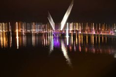 Peace Bridge in Derry//Londonderry, Northern Ireland by Tommy Barrett - 'This photo was taken from the Peace Bridge in Derry during the Lumiere Festival during the City of Culture year 2013'