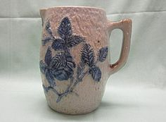 Whites Pottery Utica Gray Blue Stoneware Pitcher Tree by COBAYLEY