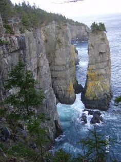Sea Stacks three hour hike from Bay Bulls Newfoundland and Labrador , Canada (This is the closest I've found to the coastline of the Krimean Sea and the Doane, up north by the Morgaine range. More to come in Book 2 of the Spirit Mage Saga. Newfoundland Canada, Newfoundland And Labrador, Oh The Places You'll Go, Places To Visit, Ottawa, Canada Landscape, Canadian Travel, Atlantic Canada, Canada Eh