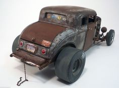 1932 Ford Five Window Weathered Barn Find Drag Car Rat Rod 1 18 Diecast Acme…